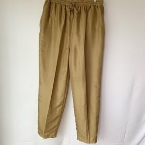Olive Green Silk Lined Pants